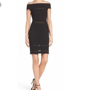 French Connection Lula off the shoulder dress